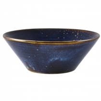 Terra Porcelain Aqua Blue Conical Bowl 16cm