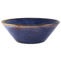 Terra Porcelain Aqua Blue Conical Bowl 19cm