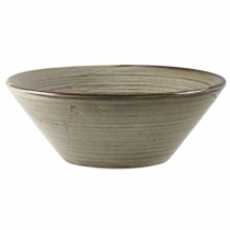 Terra Porcelain Smoke Grey Conical Bowl 16cm