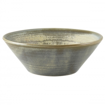 Terra Porcelain Matt Grey Conical Bowl 14cm