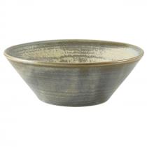 Terra Porcelain Matt Grey Conical Bowl 14cm