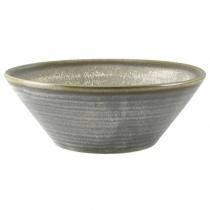 Terra Porcelain Matt Grey Conical Bowl 16cm