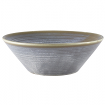Terra Porcelain Matt Grey Conical Bowl 19cm