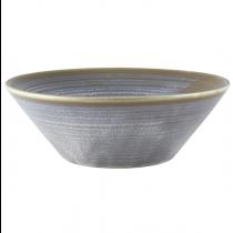 Terra Porcelain Matt Grey Conical Bowl 19cm