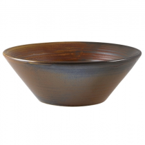 Terra Porcelain Rustic Copper Conical Bowl 14cm