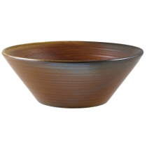 Terra Porcelain Rustic Copper Conical Bowl 19cm