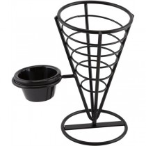 Wire Serving Cone with 1 Ramekin Well 21.5cm