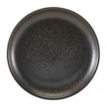 Terra Porcelain Black Coupe Plate 24cm