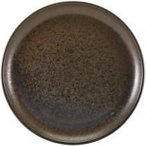 Terra Porcelain Cinder Black Coupe Plates 30.5cm