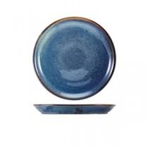 Terra Porcelain Aqua Blue Organic Plate 21cm