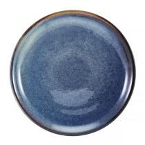 Terra Porcelain Aqua Blue Coupe Plate 19cm
