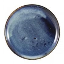 Terra Porcelain Aqua Blue Coupe Plate 24cm