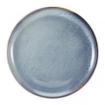 Terra Porcelain Aqua Blue Coupe Plate 27cm