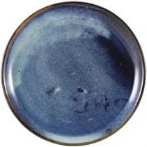 Terra Porcelain Aqua Blue Coupe Plate 30.5cm