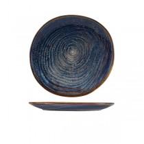 Terra Porcelain Aqua Blue Organic Plate 25cm