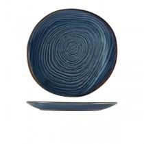 Terra Porcelain Aqua Blue Organic Plate 28.5cm