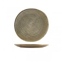 Terra Porcelain Smoke Grey Organic Plate 21cm