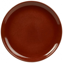 Terra Stoneware Coupe Plate Red 27cm