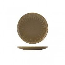 Terra Porcelain Matt Grey Scalloped Coupe Plate 20.3cm