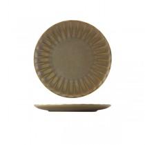 Terra Porcelain Matt Grey Scalloped Coupe Plate 23.4cm