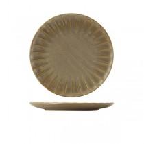 Terra Porcelain Matt Grey Scalloped Coupe Plate 26cm