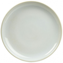 Terra Stoneware Coupe Plate Rustic White 19cm