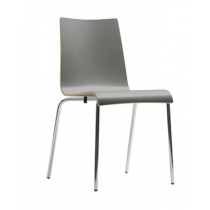 Bolero Plyform Stacking Sidechairs Anthracite