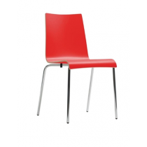 Bolero Plyform Stacking Sidechairs Red