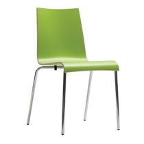 Bolero Plyform Stacking Sidechairs Lime Green