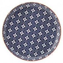 Cadiz Blue & Orange Plate 10.5""