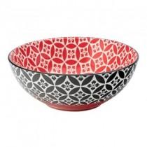 Cadiz Red & Black Bowl 6.3inch / 16cm
