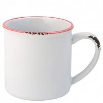 Avebury Red Rimmed Stoneware Mug 28cl 10oz