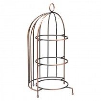 Vintage Birdcage Plate Stand 44 x 22cm
