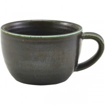 Terra Porcelain Cinder Black Coffee Cups 28.5cl 10oz