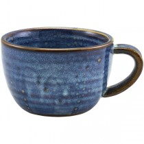 Terra Porcelain Aqua Blue Coffee Cups 28.5cl 10oz