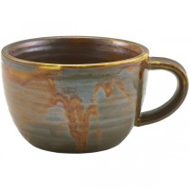 Terra Porcelain Rustic Copper Coffee Cups 28.5cl 10oz