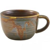 Terra Porcelain Rustic Copper Coffee Cups 28.5cl 10oz
