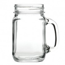 Glass Drinking Jar 49cl 16.5oz