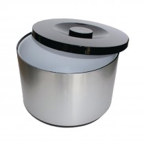 Plastic Ice Bucket Brushed Aluminium Effect 10Ltr