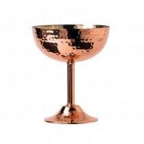 Hammered Copper Goblet None Allergic Lining 20cl/7oz