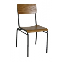 Bolero Industrial Metal & Wood Sidechairs