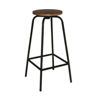 Bolero Industrial Metal & Wood Highstool