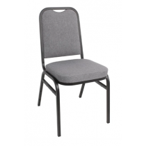 Bolero Grey Square Back Banqueting Chairs