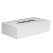 Rectangular Tissue Holder White