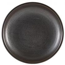 Terra Porcelain Cinder Black Deep Coupe Plate 21cm