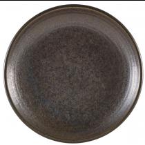 Terra Porcelain Cinder Black Deep Coupe Plate 25cm