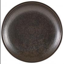 Terra Porcelain Cinder Black Deep Coupe Plate 28cm