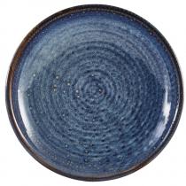 Terra Porcelain Aqua Blue Deep Coupe Plate 21cm