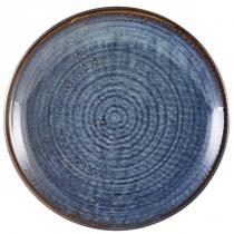 Terra Porcelain Aqua Blue Deep Coupe Plate 25cm