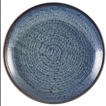 Terra Porcelain Aqua Blue Deep Coupe Plate 28cm